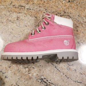 LIKE NEW Pink Timberland Boots Toddler 8